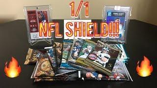 Random Football Card Hobby Pack Opening - ONE OF ONE NFL SHIELD! KABOOM!