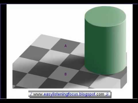 Does this Optical Illusion Fool You? Amazing Checker Shadow Illusion by Edward H. Adelson!