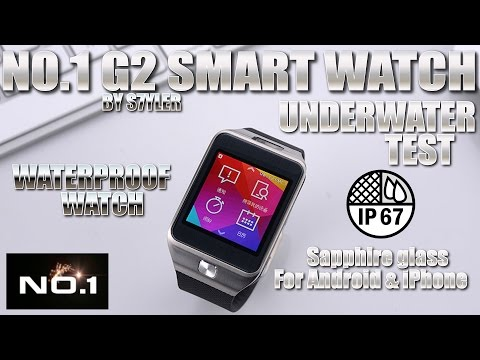NO.1 G2 Smartwatch [WATERPROOF TEST] Sapphire Glass, Waterproof - Samsung Galaxy Gear Clone?