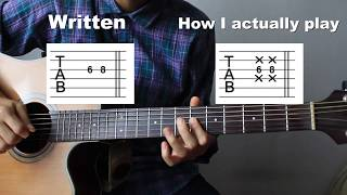 Tabi No Tochuu Tutorial Guitar Arrangement