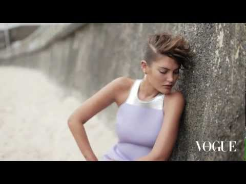Behind the scenes with Catherine McNeil in Bondi for Vogue Australia