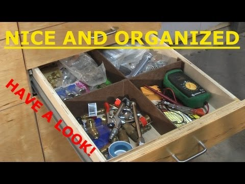 Drawer Storage Unit Tour - Woodworking Shop
