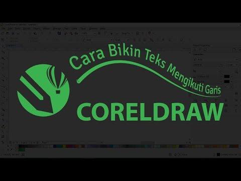 cara membuat tulisan mengikuti garis di coreldraw X6