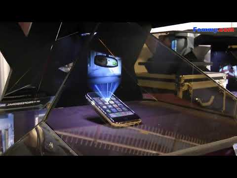 3D Hologram Projection Cube HoloAd at CES 2011 in HD