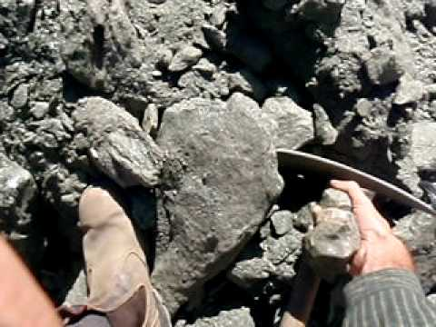 Digging for Giant Garnet crystals, Broken Hill. NSW, Australia...