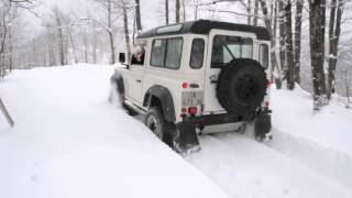 Defender TD5 Snow Winter-Gopro-Land Rover