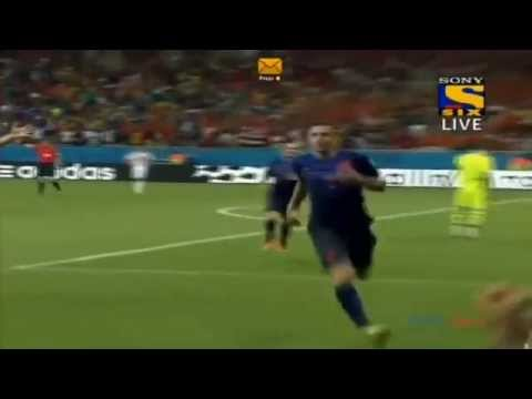 Spain vs Netherlands ( 1 - 5 ) All goals and highlights Of FIFA 2014! [The flying dutchman RVP!!]
