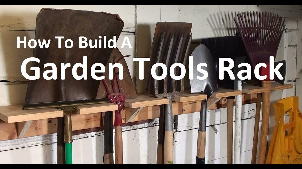 Garden Tools Rack - How To Build An OldSchool Organizer - YouTube