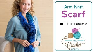 Arm Knit A Scarf In 5 Minutes