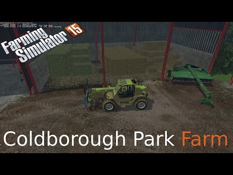 Farming Simulator 15 on Coldborough fun with courseplay  and a lot of bale stacking