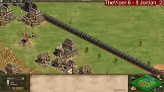 AoE -  TheViper vs Jordan_23 best of 21 game 12-16