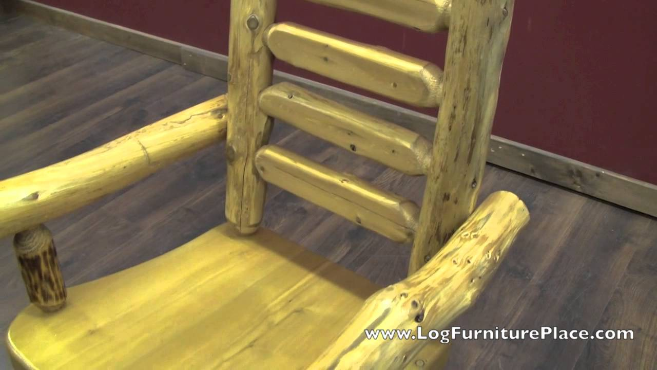Cedar Lake Ladderback Arm Amp Side Log Dining Chairs From