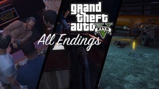 GTA 5 All Endings A B C Grand Theft Auto 5 Endings