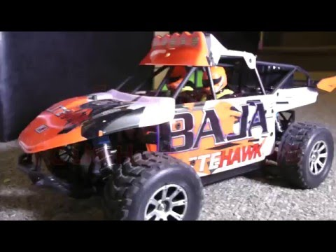 Baja LITEHAWK RC Buggy BIG JUMPS! TOY CARS ACTION! CRASHES!