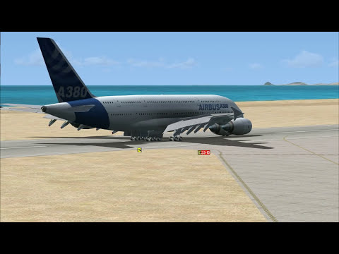 Microsoft Flight Simulator X: Airbus A380 test run with FMGC demo