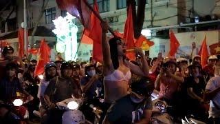 Sài Gòn Thất Thủ Bão Đêm Sài Gòn Ăn Mừng U23 Việt Nam Thắng Qatar Vào Chung Kết Châu Á