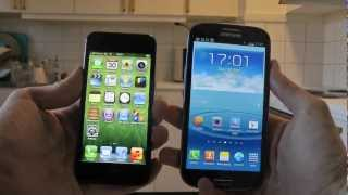 Samsung Galaxy S3 vs. Apple iPhone 5 - Drop Test