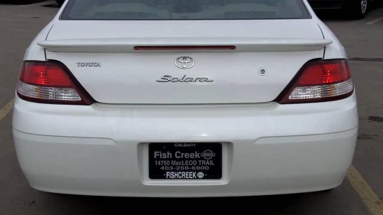2001 Toyota Solara Sle V6 White Fish Creek Nissan Youtube