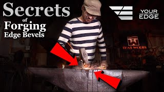 How to Forge Bevels on a Blade - The Right  Way !