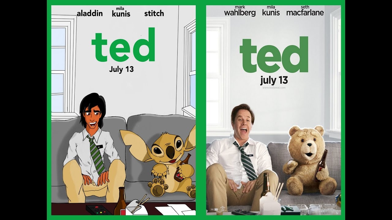 How to draw : TED movie poster Disney style - YouTube