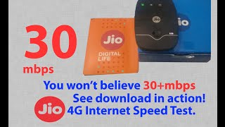 Reliance Jio / JioFi internet download and upload speed test in action (with proof)