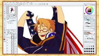 【APH】Independence Day Speedpaint