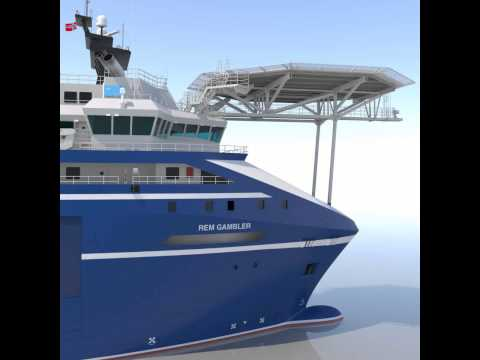 Anchor Handling Tug Rem Gambler 3D model from CGTrader.com