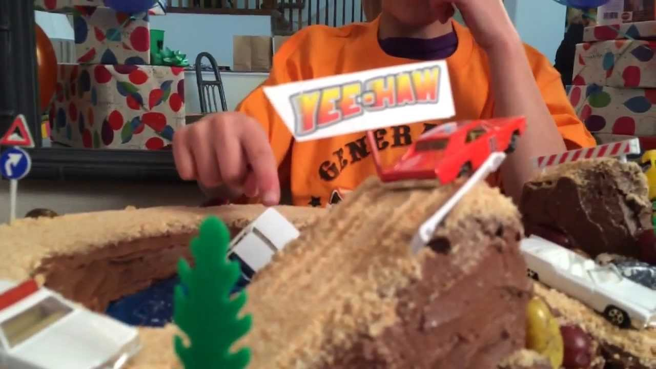 lukes dukes  hazzard birthday cake youtube