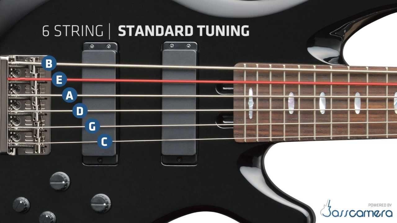 Bass Tuning 6 Strings Standard B E A D G C Hd Youtube