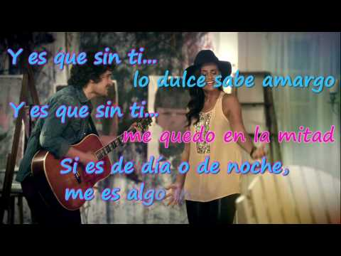 Sin Ti - Tommy Torres & Nelly Furtado (Letra) HD
