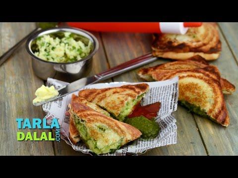 Cheese Chilli Toast (Mumbai Roadside Snack) by Tarla Dalal