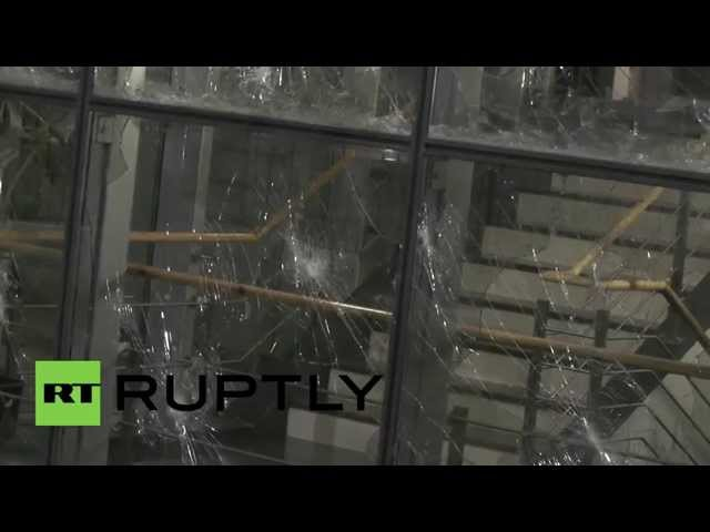 Serbia: Windows SMASHED in violent clashes aftermath