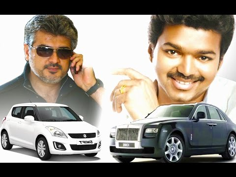 Indian Celebrities and their luxurious cars | Vijay, Surya, Vikram, Dhanush, Trisha, Yuvan, Amitabh