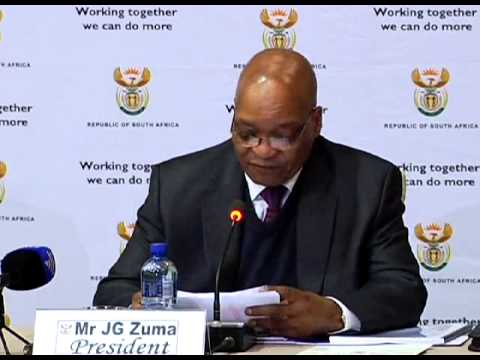 President Jacob Zuma addresses social dialogue with business, labour and the community sectors