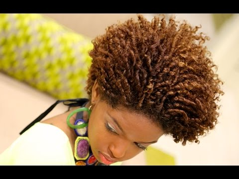 Natural Hair   Finger/Comb Coil Out Curly Fro Tutorial