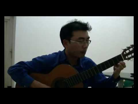 Bouree in Dm - Robert de Visee (Ryoji Matsuoka M50 guitar)