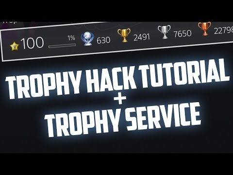 (PS3/CFW) How to hack trophies to level 100!! +Voice Tutorial (Trophy Service)