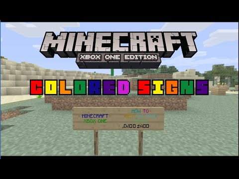 Minecraft Xbox One: Custom Colored Signs | How to Get Them [No Mods or Hacks!]