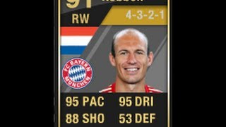 FIFA 12 Ultimate Team IF ROBBEN Player Review & In Game Stats