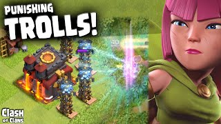 "Clash of Clans ""Trolls Get Punished!"" Trapped Town Halls in Clash ♦ CoC ♦"