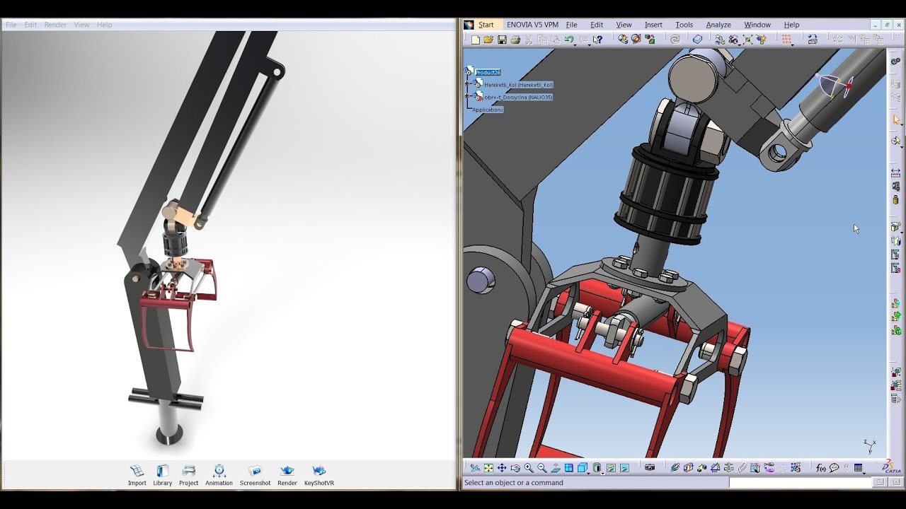 How To Make Motion Animations Of Catia Trailer Robot Arm