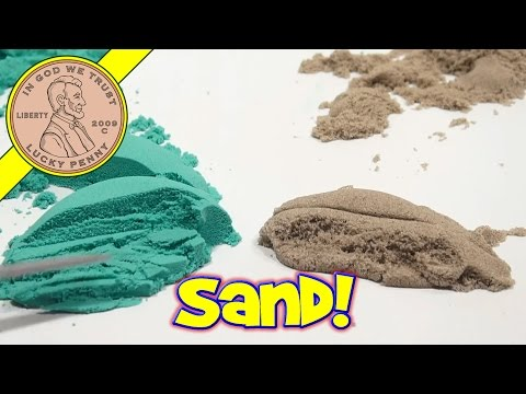 Comparing Moon Sand to Brookstone Sand
