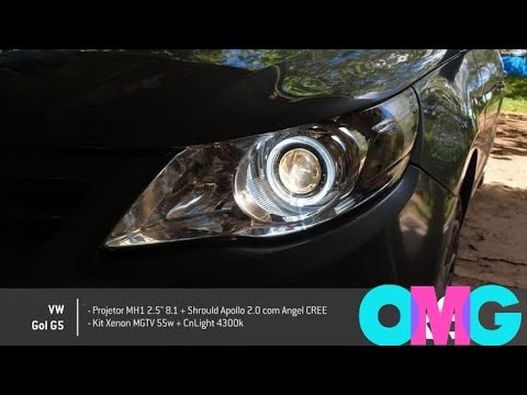 Gol g5 com farol angel eyes e volante Golf mk7