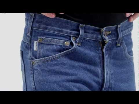 Video: Men's Relaxed Fit Jean -Straight Leg -Flannel Lined