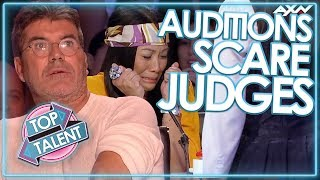 JUDGES GET SCARED ON GOT TALENT! | Top Talent