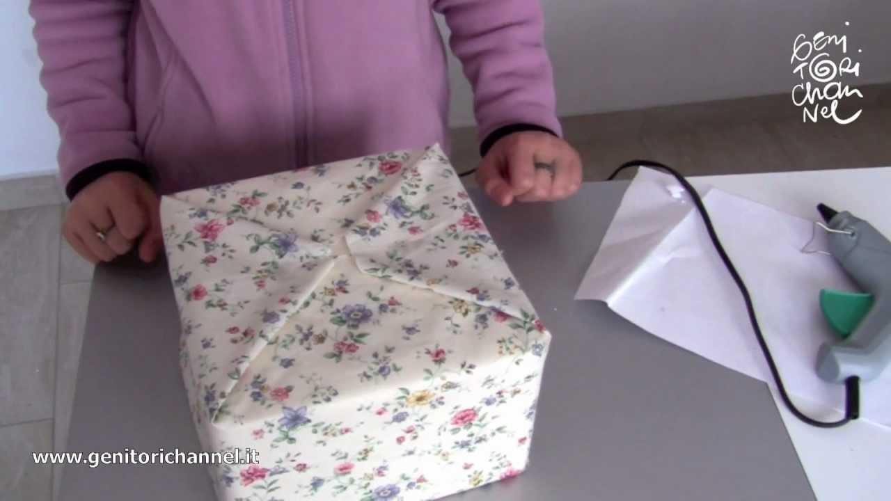 Lavoretto di pasqua la scatola decorata youtube for Foderare una scatola