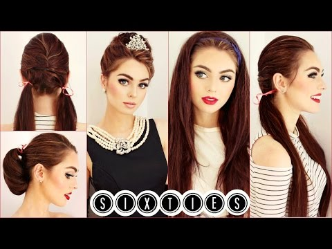 Audrey Hepburn Hair Tutorial | Easy & Cute 60's Hairstyles | Jackie Wyers