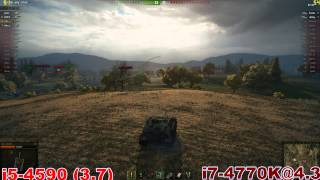 i5-4590 vs i7 4770K CF 270x in World of Tanks
