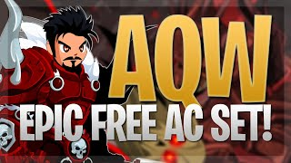 AQW - New Wintery and Festive DoomKnight Set! (Free Non-Mem AC Tagged Items!) & How to Get Them!