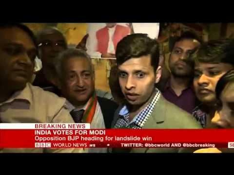 Overseas friends of BJP celebrating Narendra Modi win in London-BBC